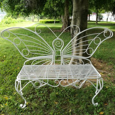 metal garden chair uk black bench folding hi line gift ltd butterfly