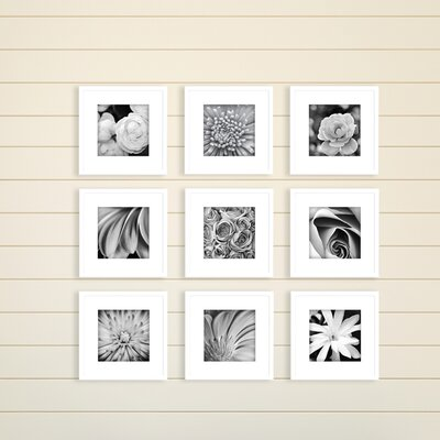 nielsenbainbridge gallery perfect 9 piece picture frame set reviews wayfair - White Picture Frame Set