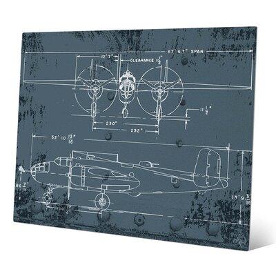 Blueprint Wall Art click wall art 'airplane blueprint' graphic art & reviews | wayfair