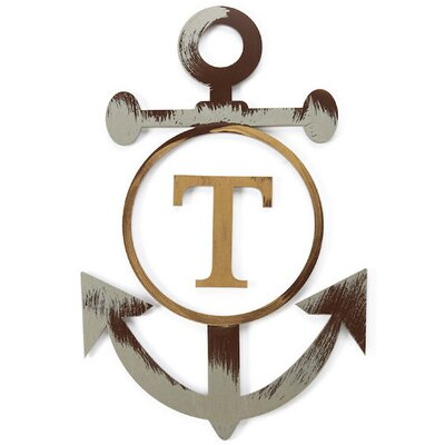Metal Anchor Wall Decor letter2word personalized anchor wall décor & reviews | wayfair