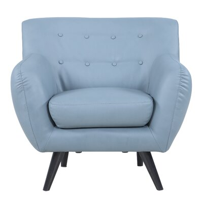 Madison Home USA Mid Century Modern Tufted Bonded Leather Armchair