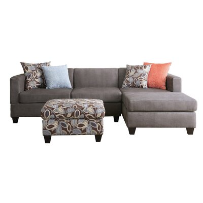 . Madison Home USA Reversible Chaise Sectional   Reviews   Wayfair