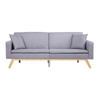 Madison Home USA Modern Tufted Linen Splitback Recliner Sofa U0026 Reviews |  Wayfair