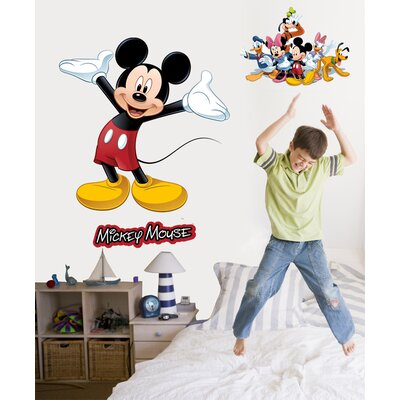 Wallhogs Disney Mickey And Friends Mickey Mouse Room Makeover Wall Decal U0026  Reviews | Wayfair Part 39