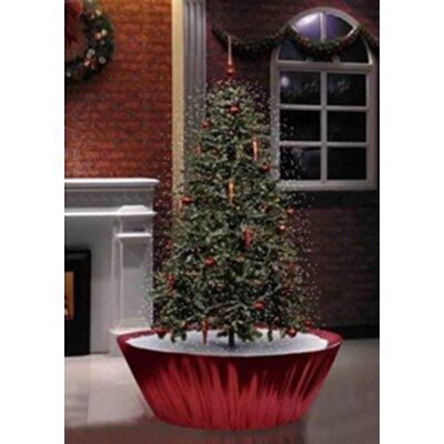 Northlight 5.5u0027 Musical Snowing Artificial Christmas Tree With Red Lights U0026  Reviews | Wayfair