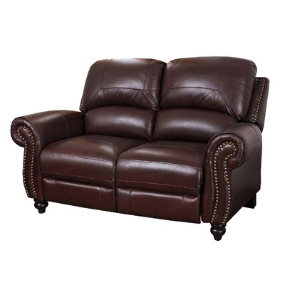 sc 1 st  Wayfair & Darby Home Co Kahle Leather Reclining Loveseat u0026 Reviews | Wayfair islam-shia.org