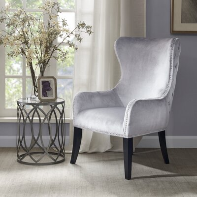 darby home co garrison button tufted wingback chair u0026 reviews wayfair