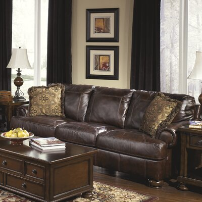 Darby Home Co Bannister Leather Sofa & Reviews | Wayfair