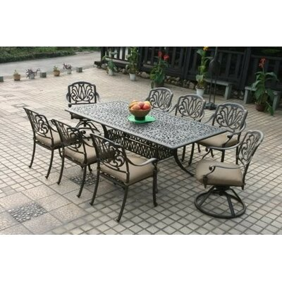 Darby Home Co Kristy 9 Piece Dining Set With Cushions U0026 Reviews | Wayfair