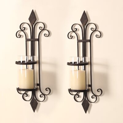 Metal Wall Sconces For Candles darby home co traditional iron wall sconce candle holder & reviews