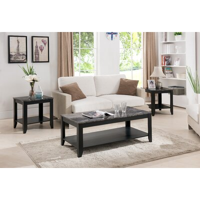 Charlton Home Norris 3 Piece Coffee Table Set U0026 Reviews | Wayfair