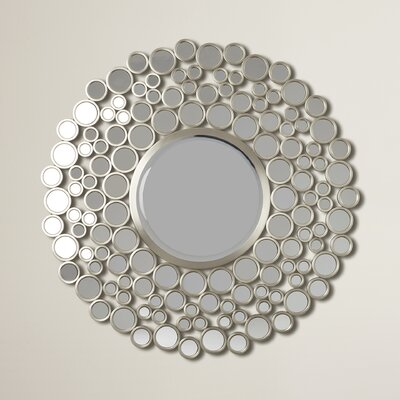 Round Wall Mirrors varick gallery kentwood round wall mirror & reviews | wayfair