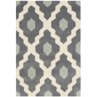 Varick Gallery Wilkin Dark Gray/Ivory Moroccan Area Rug U0026 Reviews | Wayfair