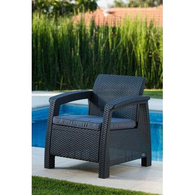 Mercury Row Berard All Weather Outdoor Armchair With Cushions U0026 Reviews |  Wayfair