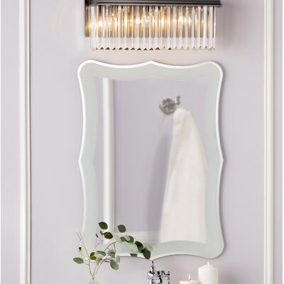 Frameless Wall Mirror varick gallery logan frameless wall mirror & reviews | wayfair