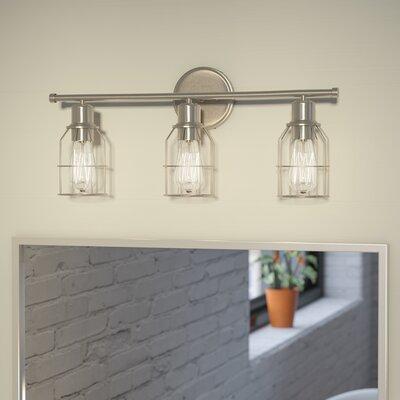 Bathroom Vanity Lights Austin Tx varick gallery saltzman 3-light vanity light & reviews | wayfair