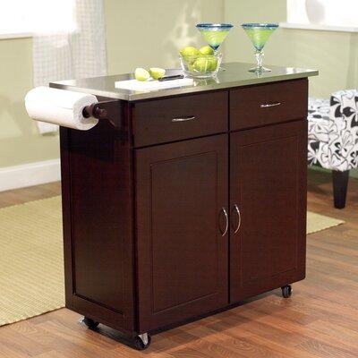 brayden studio dayville large kitchen cart with stainless steel, Kitchen design