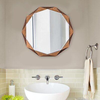 Wall Mirror Panels brayden studio faceted panels wall mirror | wayfair