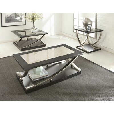 sc 1 st  Wayfair & Orren Ellis Asya 3 Piece Coffee Table Set \u0026 Reviews | Wayfair