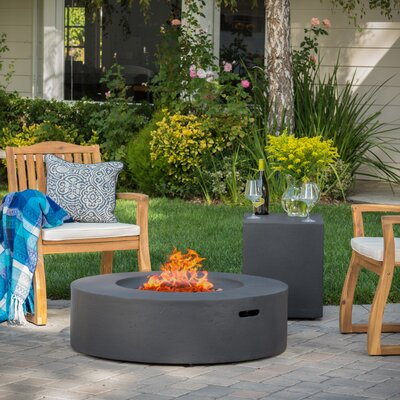 Wade Logan Olivet Gas Fire Pit Table With Tank Holder U0026 Reviews | Wayfair