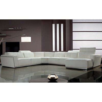 orren ellis coalpit heath modern ushaped sectional u0026 reviews wayfair