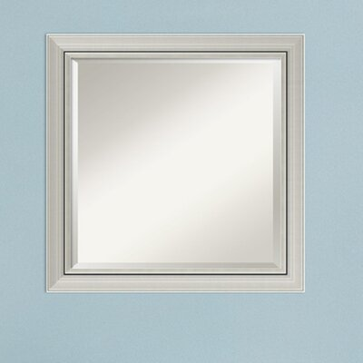 Narrow Wall Mirror orren ellis berenice narrow burnished silver frame square accent