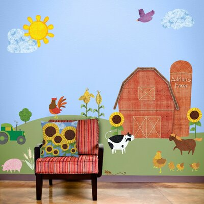 Farm Wall Art my wonderful walls friendly farm wall mural | wayfair