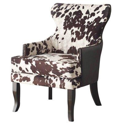!nspire Faux Cowhide Accent Wing Back Chair U0026 Reviews | Wayfair