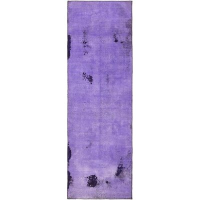brayden studio one of a kind muhammad vintage persian hand woven wool runner purple oriental area rug u0026 reviews wayfair