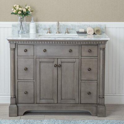 "ari kitchen & bath stella 42"" single bathroom vanity set & reviews"
