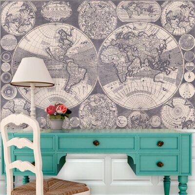 Swag Paper World Map Wall Mural U0026 Reviews   Wayfair