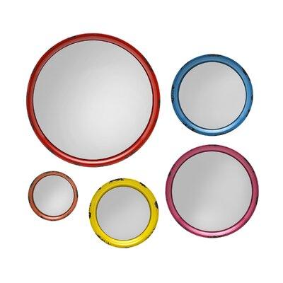 Wall Mirror Set august grove 5 piece round wall mirror set & reviews | wayfair
