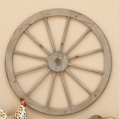 Metal Bicycle Wall Decor august grove metal wagon wheel wall decor & reviews | wayfair
