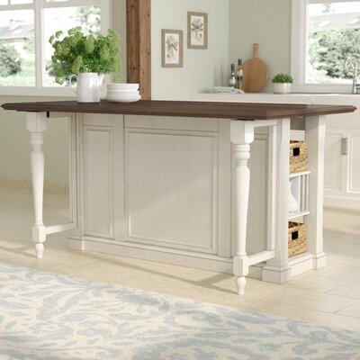 August Grove Kitchen Island With Wood Top Reviews Wayfair