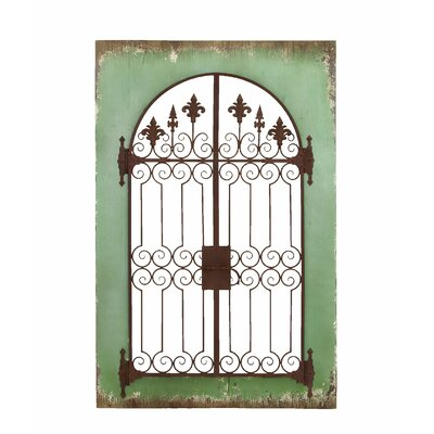 Wood And Iron Wall Decor one allium way wood and metal wall decor & reviews | wayfair