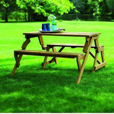 Loon Peak Luxton Convertible Wood Picnic Table U0026 Garden Bench U0026 Reviews |  Wayfair