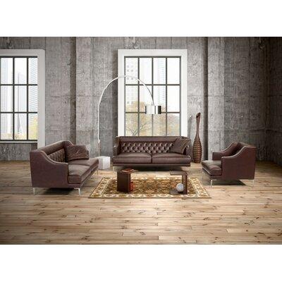 House Of Hampton Gertz 5 Piece Leather Living Room Set U0026 Reviews   Wayfair