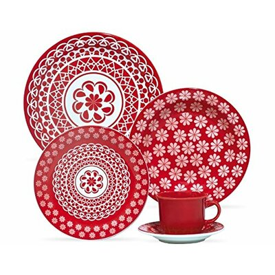 Oxford Porcelain Floral Daily 12 Piece Dinnerware Set, Service For 4 U0026  Reviews | Wayfair