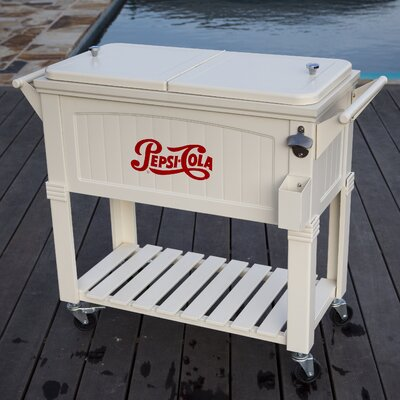 Permasteel 80 Qt. Pepsi Antique Patio Rolling Cooler U0026 Reviews | Wayfair