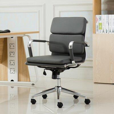 roundhill furniture modica contemporary mid-back office desk chair