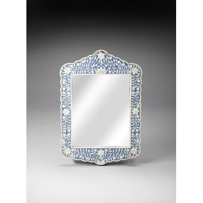 Turquoise Wall Mirror mistana brock botanic bone inlay wall mirror & reviews | wayfair