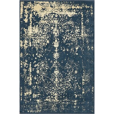 Vikram Navy Blue Area Rug by Bungalow Rose
