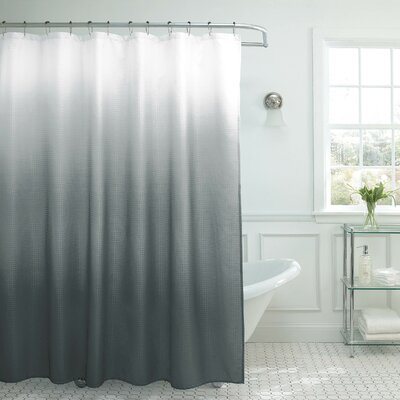 Zipcode Design Charlesworth Waffle Fabric Weave Shower Curtain U0026 Reviews |  Wayfair