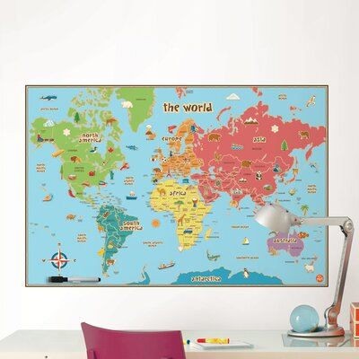 Viv + Rae Lucas World Map Wall Decal U0026 Reviews | Wayfair Part 57