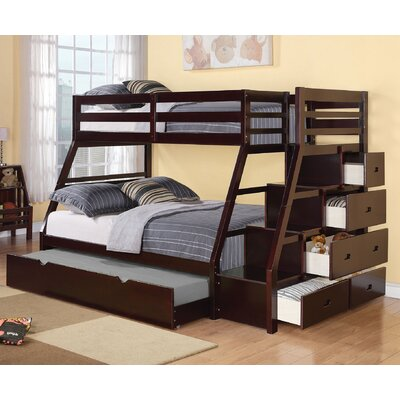 Viv + Rae Reece Twin Over Full Bunk Bed with Storage Ladder and Trundle &  Reviews | Wayfair