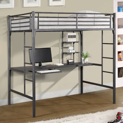 Loft Bed Images viv + rae jose twin loft bed with workstation & reviews | wayfair