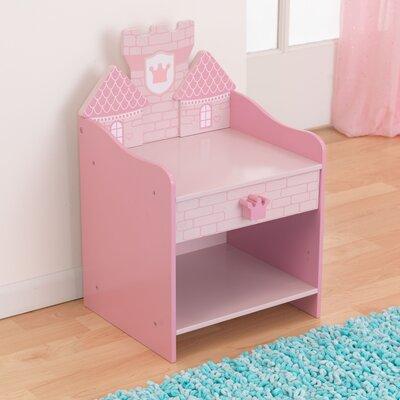 kidkraft princess castle 1 drawer nightstand & reviews | wayfair