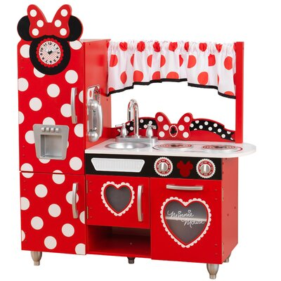 KidKraft Disney Junior\'s Minnie Mouse Vintage Kitchen Set ...