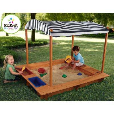 sc 1 st  Wayfair & KidKraft 5u0027 Rectangular Sandbox with Canopy u0026 Reviews | Wayfair
