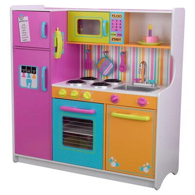 KidKraft Deluxe Big U0026 Bright Kitchen Play Set U0026 Reviews | Wayfair